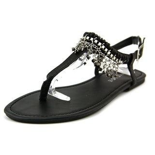Rampage Preingly Women Open Toe Synthetic Black Sandals