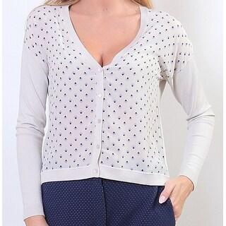 Max Mara Weekend NEW Beige Women's Size Large L Cardigan Silk Sweater