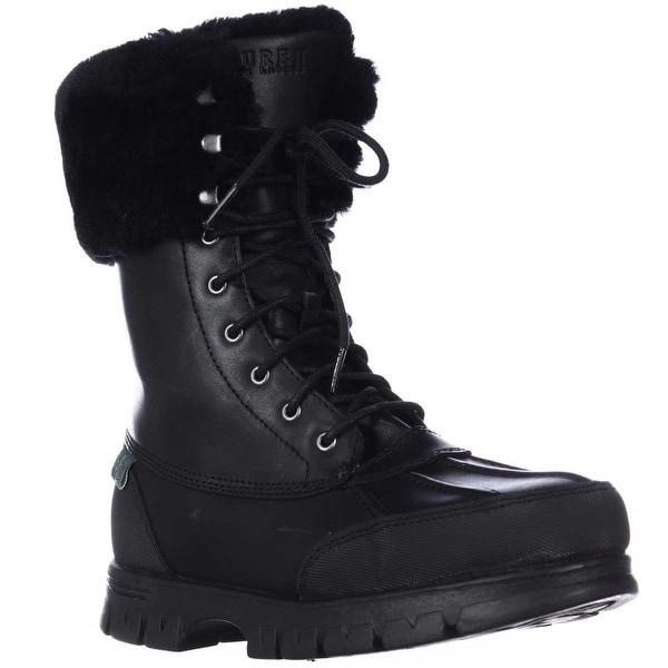 Lauren Ralph Lauren Quinta Shearling Lined Winter Boots, Black/Black