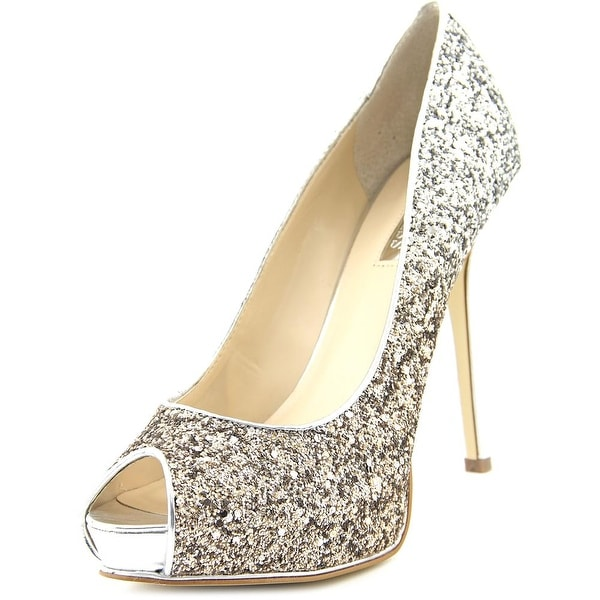 Guess Honoran Women Open Toe Synthetic Silver Platform Heel