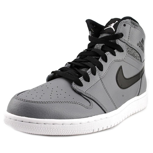 Jordan Air Jordan 1 Retro High Men Round Toe Synthetic Gray Basketball Shoe