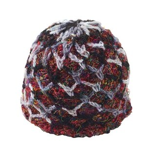 Women's Beanie Hat - Recycled Silk Ruby-Red Accessories
