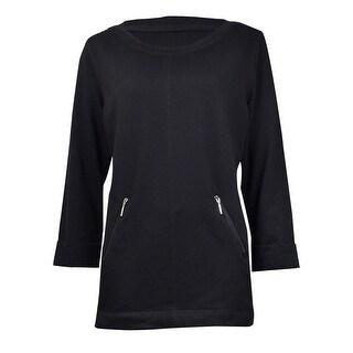 Karen Scott Women's Sport Seamed Zip-Pocket Sweatshirt (3 options available)