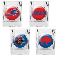Great American Products Buffalo Bills Shot Glass Set 4pc Collectors Shot Glass Set