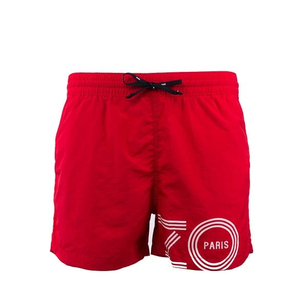 536b8964 Shop Kenzo Mens Red Bathing Suit Swim Shorts Trunks - S - Free ...