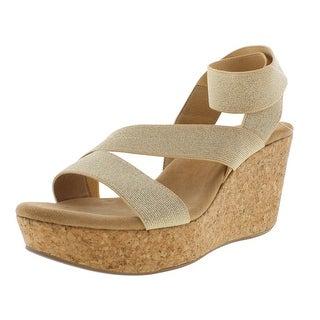 Splendid Womens Gavin Strappy Open Toe Wedge Sandals