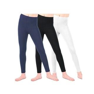 Lori & Jane Little Girls Black White Navy 3 Pc Leggings