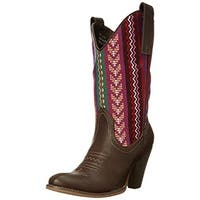 Spite Womens Silverwood Cowboy, Western Boots Faux Leather Embroidered