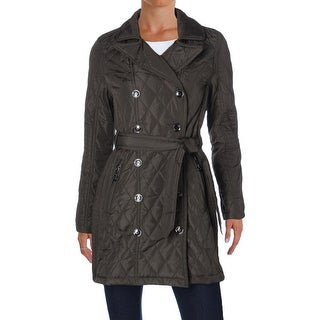 Urban Republic Womens Anorak Jacket Quilted Double Breasted