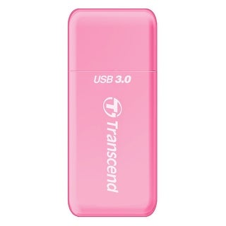 Transcend USB 3.0 SDHC / SDXC / microSDHC / SDXC Card Reader, TS-RDF5R (Pink)