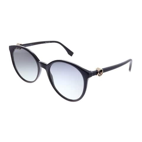 Fendi FF 0288 0T7 9O Womens Purple Frame Grey Gradient Lens Sunglasses