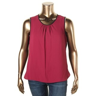 Anne Klein Womens Blouse Pleated Sleeveless