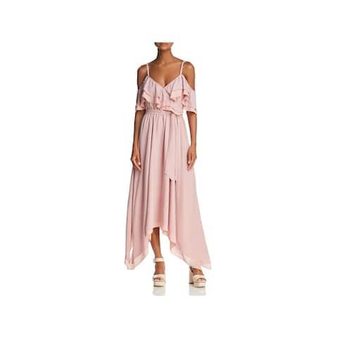 Rebecca Minkoff Womens Hadlee Maxi Dress Cold Shoulder Special Occasion