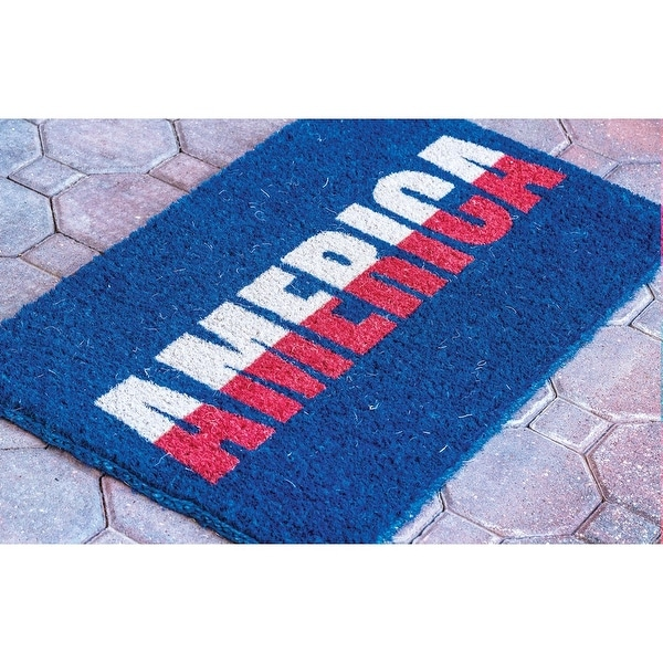 Doormat - America Coir Welcome Mat - Red, White & Blue