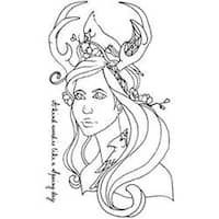 """Bloom Cling Rubber Stamps 8""""X6""""-Peyton"""
