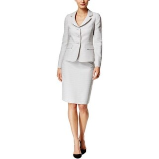 Le Suit Womens Skirt Suit 2 PC Heathered - 16