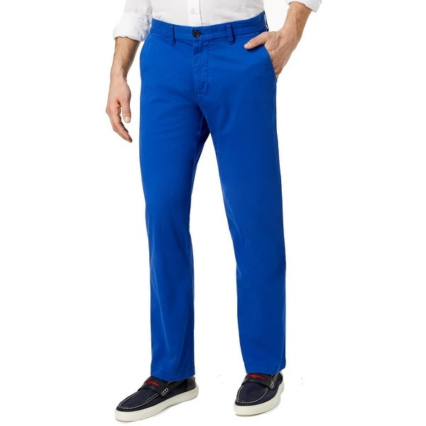 Tommy Hilfiger Mens Chino Pants Blue 38x30 Slim Fit Flat Front Stretch. Opens flyout.