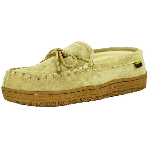 Old Friend Slippers Womens Terry Cloth Moccasin Chestnut 484132W
