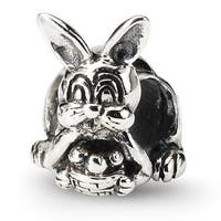 Sterling Silver Reflections Bunny with Basket Bead (4mm Diameter Hole)