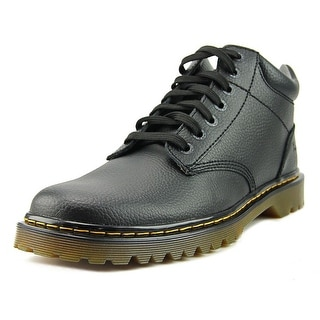 Dr. Martens Air Wair Harrisfield Men  Round Toe Leather Black Work Boot