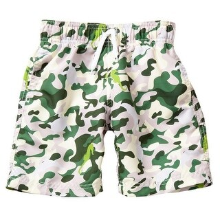 Azul Boys Green Spot The Creatures Drawstring Tie Swim Shorts