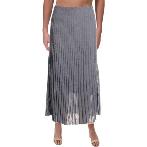 Nic + Zoe Womens Fluid Maxi Skirt Pleated Casual