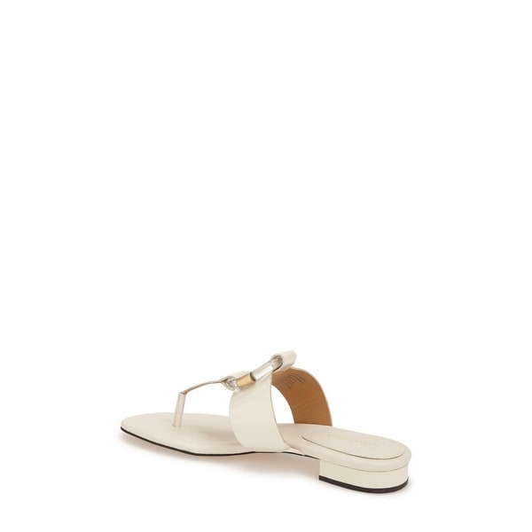 Calvin Klein Womens AIDEN Open Toe Casual, SOFT WHITE, Size 7.0 - 7