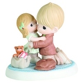 Precious Moments I'll Be Home For Christmas Porcelain Bisque Figurine - Thumbnail 0