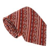Missoni U3681 Red/Silver Awning 100% Silk Tie - 60-3