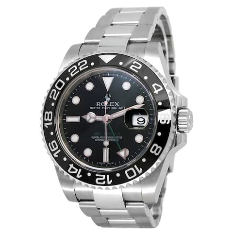 Pre-owned 40mm Rolex Stainless Steel GMT-Master II Watch - 7 inches