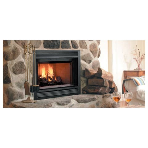 """Majestic SA36R 42"""" Wide Built in Wood Burning Radiant Fireplace from - Black"""