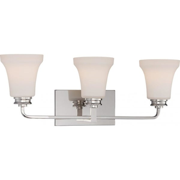 Nuvo Lighting 62/428 Cody 3 Light LED Energy Star Bathroom Sconce - Polished Nickel