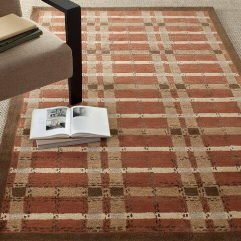 Martha Stewart by Safavieh Colorweave Plaid Wool/ Viscose Rug