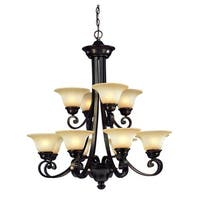 Dolan Designs 1082 12 Light 2 Tier Up Lighting Chandelier from the Brittany Collection
