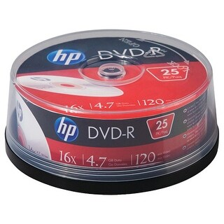 Hp Dm16025Cb 4.7Gb 16X Dvd-Rs (25-Ct Cake Box Spindle)