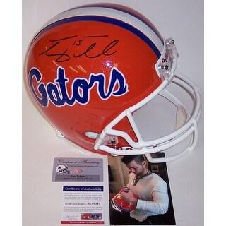 Tim Tebow Autograhed Hand Florida Gators Full Size Helmet  PSADNA