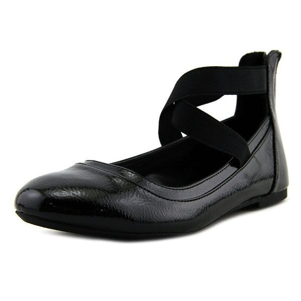 2b8bb3ad600d9 Shop Nina alicea Youth Round Toe Patent Leather Black Ballet Flats ...