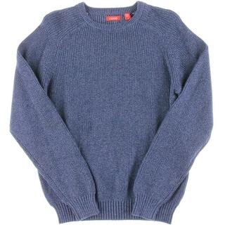 Izod Mens Ribbed Knit Long Sleeve Pullover Sweater - M