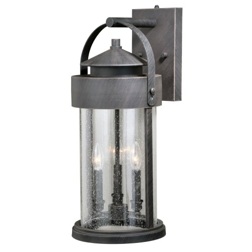 Vaxcel Lighting T0287 Cumberland 3 Light 23-1/2  High Outdoor Wall Sconce  sc 1 st  Overstock.com & Vaxcel Lighting T0287 Cumberland 3 Light 23-1/2
