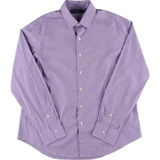 Polo Ralph Lauren Mens Solid Cotton Button-Down Shirt - XL
