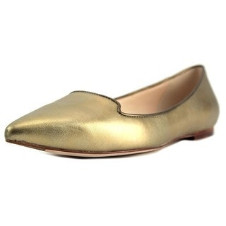 Cole Haan Lockhart Skimmer Women Pointed Toe Leather Gold Flats