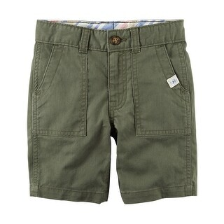 Carter's Baby Boys' Herringbone Shorts, Olive, 6 Months