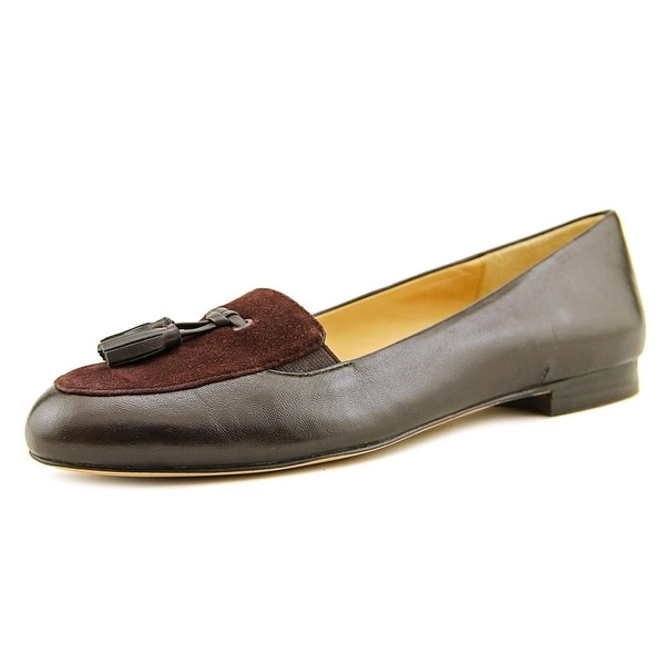 Trotters Caroline Women Round Toe Leather Brown Loafer