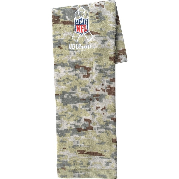 new product 8c0fc 82fad WILSON Football Salute to Service Field NFL Towel CAMO