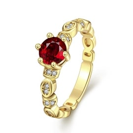 Gold Petite Ring with Gemstone