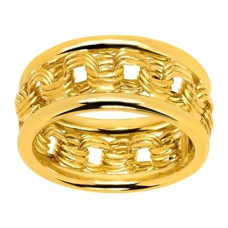Just Gold Rosetta Chain Band Ring in 10K Gold - Yellow