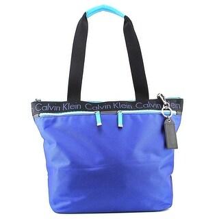Calvin Klein A-Prkr Tote Women Nylon Blue Tote NWT