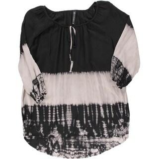 Cirana Womens Tie Dye 3/4 Sleeve Peasant Top