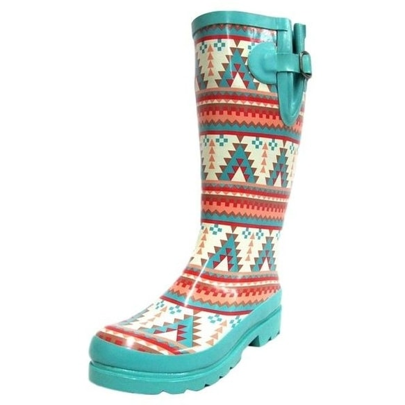 Blazin Roxx Outdoor Boots Womens Dakota Turquoise Orange