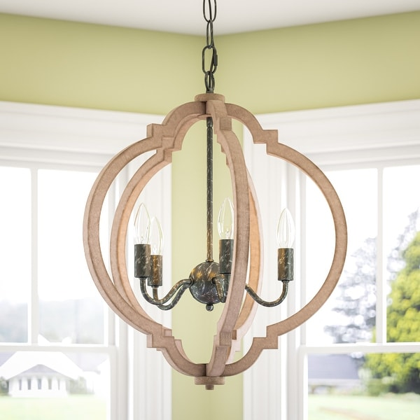 Sophia 5 Light Pendant - Weathered White with Distressed Black. Opens flyout.